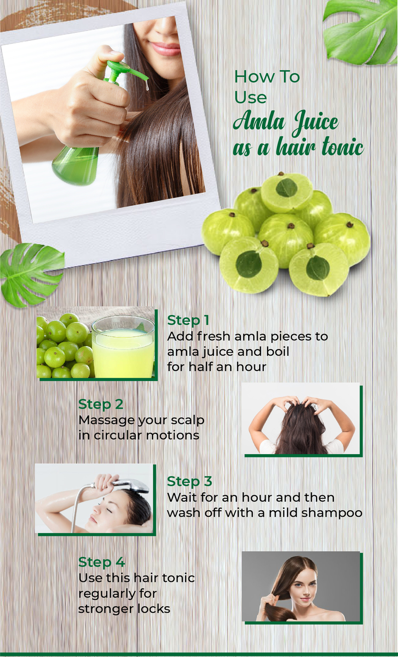 How To Use Amla Juice As A Hair Tonic
