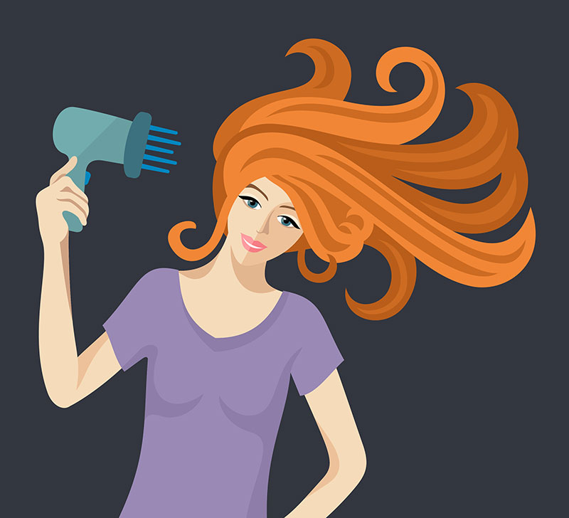 Dry your hair before you use heat styling products
